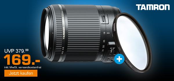 TAMRON 18-200 F/3.5-6.3 DI II VC CANON + UV- Filter für 169.-