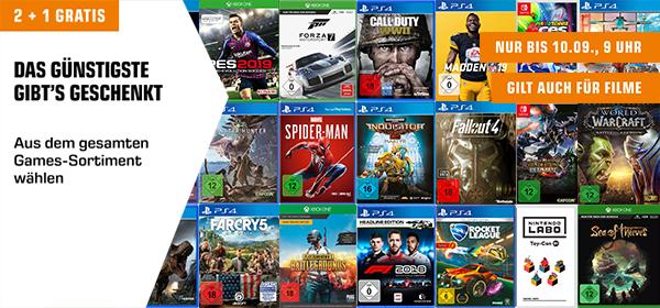 2+1 Gratis: 2 Games kaufen und 1 Gratis erhalten