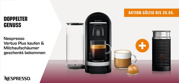 Doppelter Genuss - Nespresso Vertuo Plus kaufen & Milchaufschäumer geschenkt bekommen