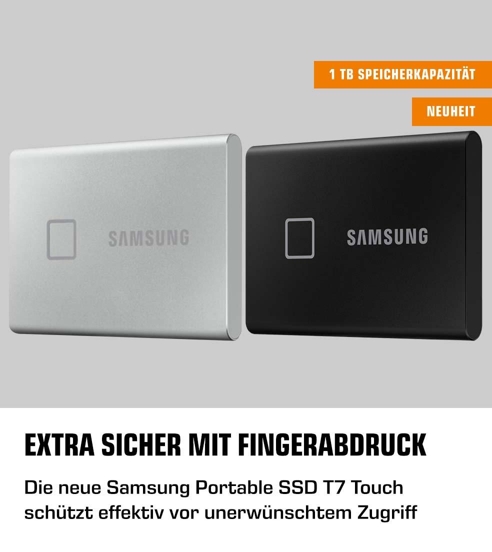 Extra sicher mit Fingerabdruck - die neue SAMSUNG Portable SSD T7
