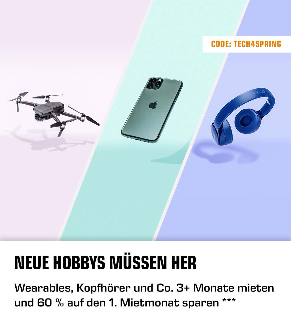 Neue Hobbys müssen her - Wearables, Kopfhörer und Co. 3+ Monate mieten und 60 % auf den 1. Mietmonat sparen ***