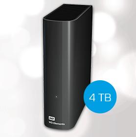 WD Elements Desktop externe Festplatte mit 4 TB für 109€