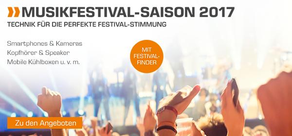 Musikfestival-Saison 2017 - Technik für die perfekte Festival-Stimmung