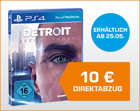 Detroit Become Human - PlayStation 4 59.99 nach Direktabzug im Warenkorb
