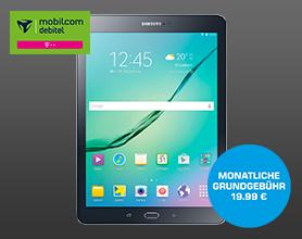 Samsung Galaxy Tab S2 9.7 LTE (T819) mit Telekom Internet Flat 10.000 für mtl. 19.99 Einmalpreis 4.99