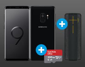 Samsung Galaxy S9 inkl. Ultimate Ears Megaboom und 200 GB Speicherkarte nach 100 ? Direktabzug im Warenkorb 749.-