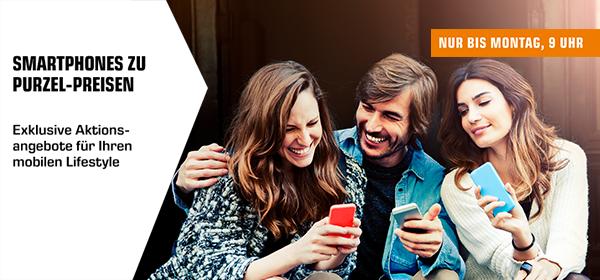 Smartphones zu Purzelpreisen - nur bis Montag, 9 Uhr